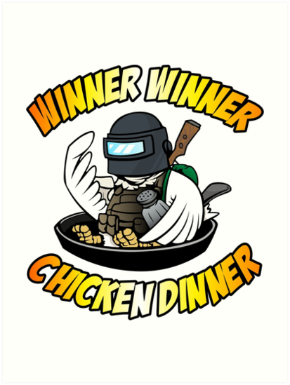 Winner winner chicken dinner clipart banner free \'Winner Winner Chicken Dinner\' Art Print by Dolores C Hoy banner free