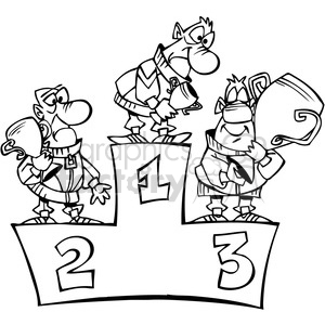 Winners clipart black and white image black and white stock black and white cartoon winner podium clipart. Royalty-free clipart # 387818 image black and white stock