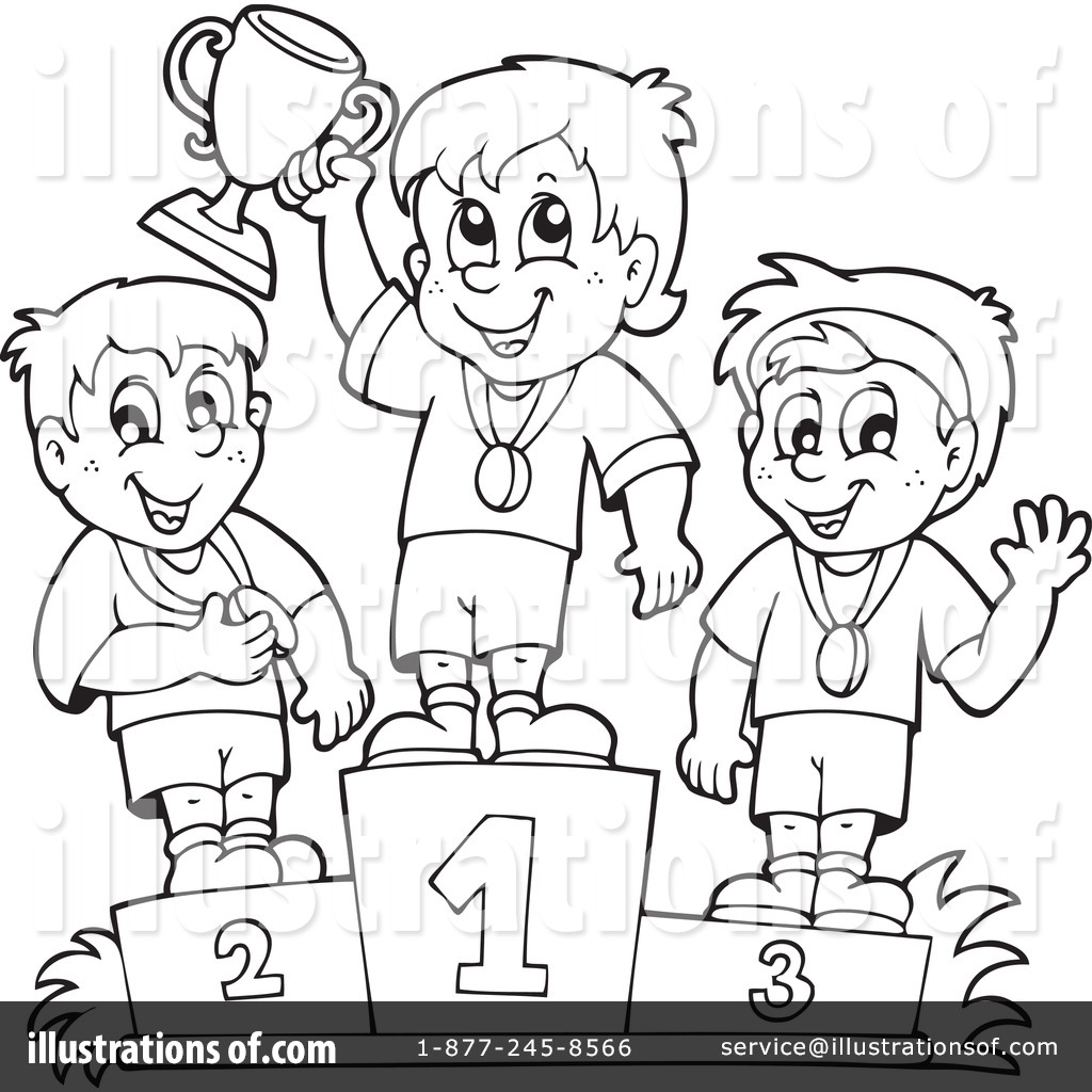 Winners clipart black and white graphic library stock Winner Clipart #1114860 - Illustration by visekart graphic library stock