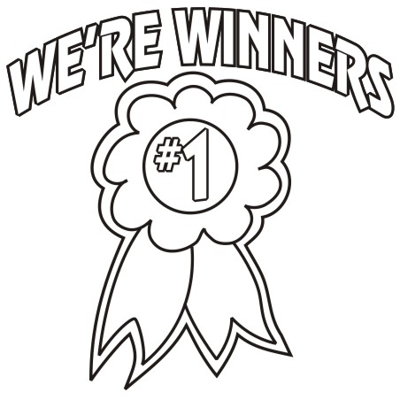 Winners clipart black and white vector royalty free library Clipart & Design Ideas: Clipart » Education » We\\\'re Winners vector royalty free library