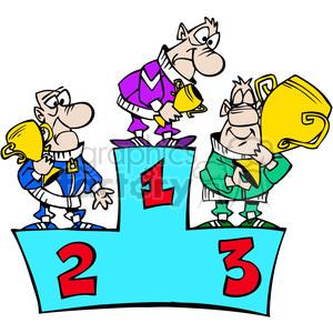 Winners podium clipart graphic freeuse stock cartoon winner podium clipart. Royalty-free clipart # 387826 graphic freeuse stock