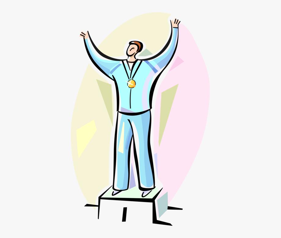 Winners podium free clipart vector transparent download Vector Illustration Of Medalist Winner On Podium With ... vector transparent download