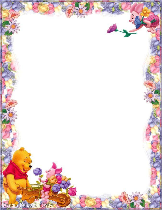 Winnie the pooh border clipart image royalty free stock Erin ~ This stationary is for you !!! | My Daughters ... image royalty free stock