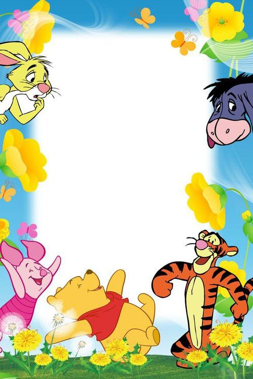 Winnie the pooh border clipart graphic freeuse download Image via We Heart It #disney #friends #wallpaper ... graphic freeuse download