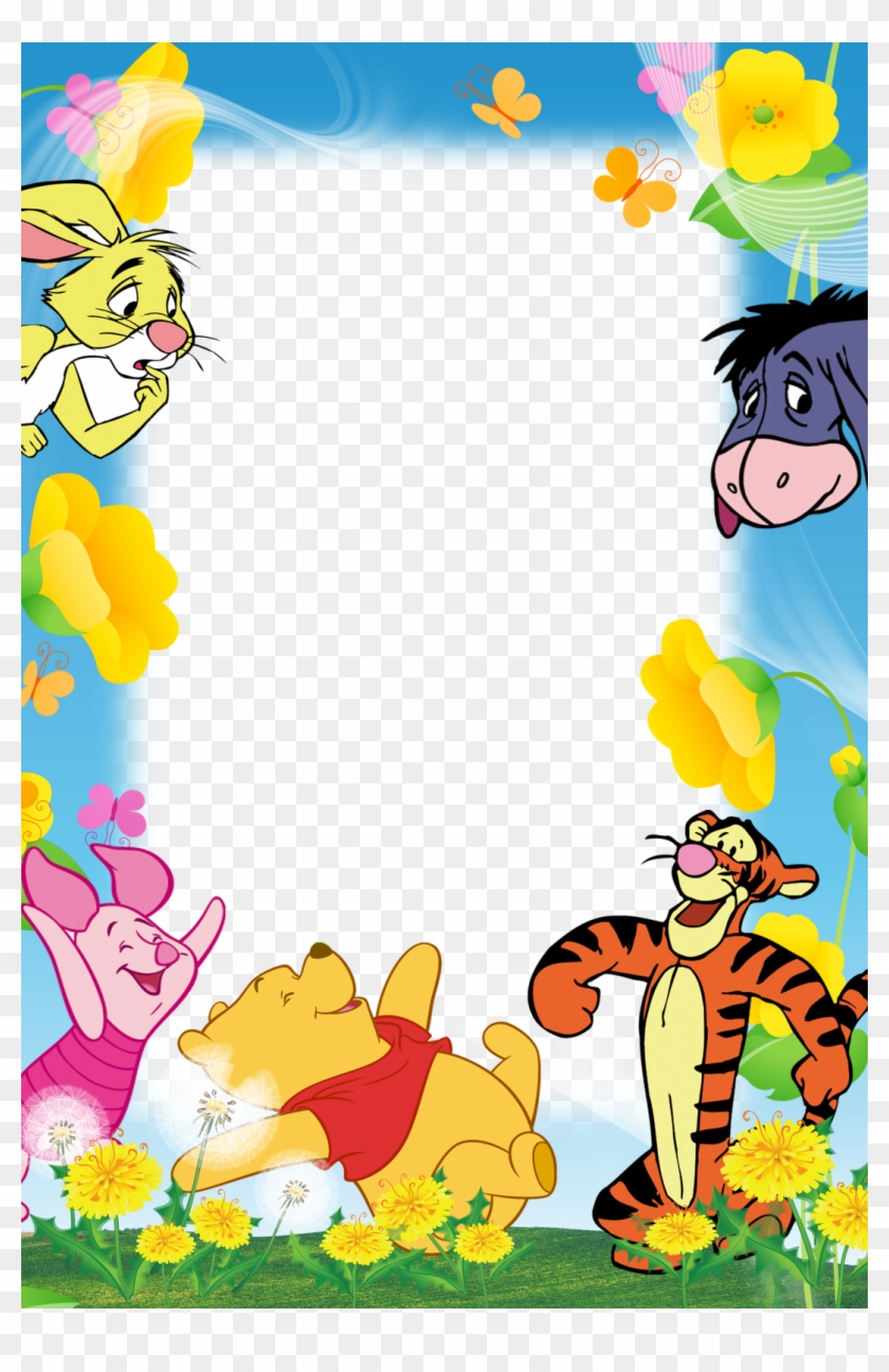 Winnie the pooh border clipart svg royalty free Borders For Paper, Borders And Frames, Frames Png, - Winnie ... svg royalty free