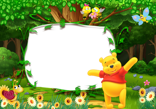 Winnie the pooh border clipart banner royalty free download Winnie the Pooh Kids Transparent Photo Frame | page borders ... banner royalty free download