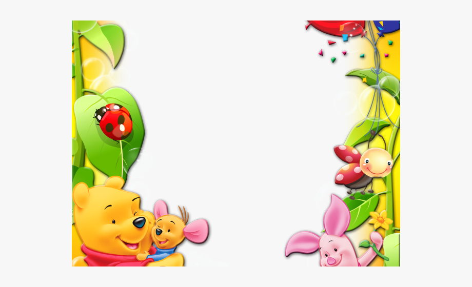 Winnie the pooh border clipart svg free library Winnie The Pooh Clipart Frame - Birthday Cards For ... svg free library