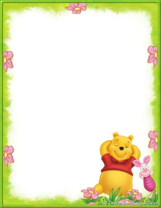 Winnie the pooh border clipart clipart freeuse Winnie | Note Paper | Winnie the pooh, Borders, frames ... clipart freeuse