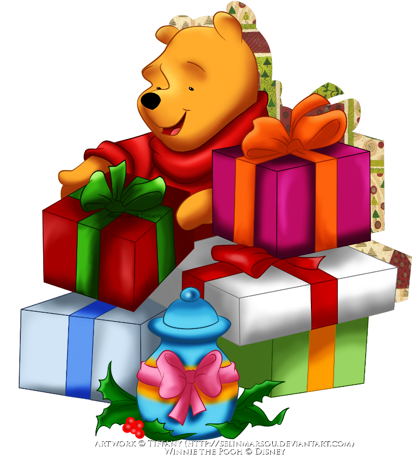 Winnie the pooh christmas clipart clip art free stock Pooh's Christmas by selinmarsou on DeviantArt clip art free stock