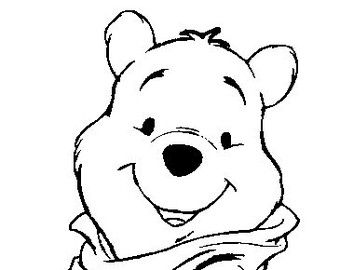 Winnie the pooh clipart black and white vector download Image result for winnie the pooh face black and white | If I ... vector download