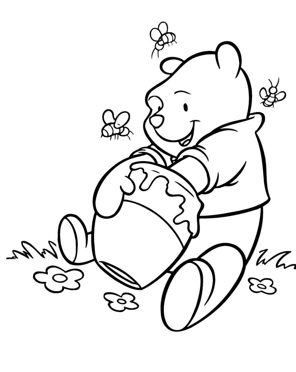 Winnie the pooh clipart black and white banner royalty free download Printable Winnie The Pooh Clipart Online Color Pencil ... banner royalty free download