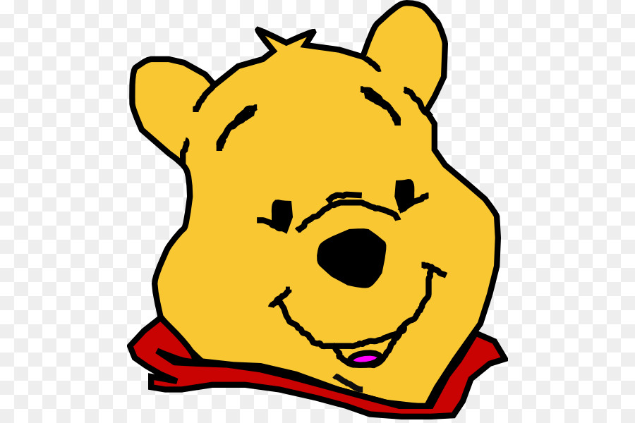 Winnie the pooh clipart face clip stock Yellow Background clipart - Yellow, Nose, Head, transparent ... clip stock