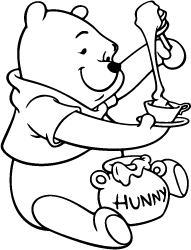 Winnie the pooh outline clipart clip art black and white stock Winnie the Pooh Silhouette | Silhouette of Winnie the Pooh clip art black and white stock