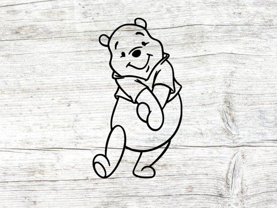 Winnie the pooh outline clipart vector freeuse stock Disney\'s Winnie the pooh svg, winnie the pooh clipart, dxf ... vector freeuse stock