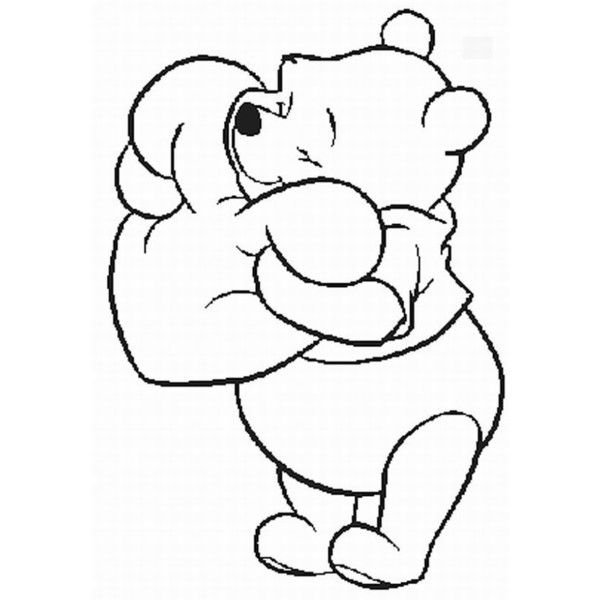 Winnie the pooh outline clipart jpg royalty free download Winnie The Pooh Outline STENCIL USE! | Things for My Wall ... jpg royalty free download