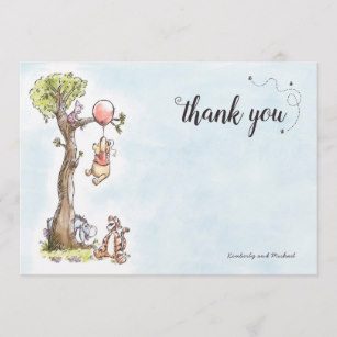 Winnie the pooh thank you clipart quotes clip art black and white library Pooh & Friends Watercolor | Baby Shower Thank You clip art black and white library