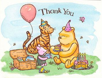 Winnie the pooh thank you clipart quotes image black and white stock Spencer Aloysius\' Winnie the Pooh Clipart Collection ... image black and white stock