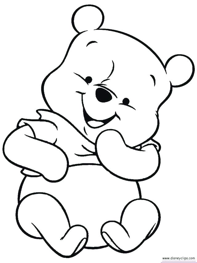 Winnie the pooh waving hand hello clipart for coloring svg black and white download Baby Winnie The Pooh Drawing | Free download best Baby ... svg black and white download