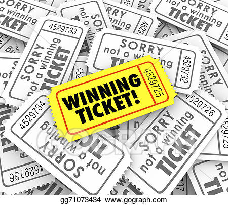 Winning ticket clipart image freeuse download Stock Illustration - Winning ticket one unique winner raffle ... image freeuse download