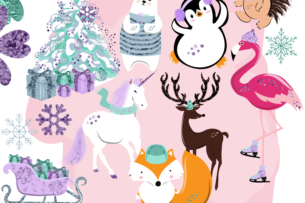 Winter animal clipart clip transparent download Winter Animals Clipart clip transparent download