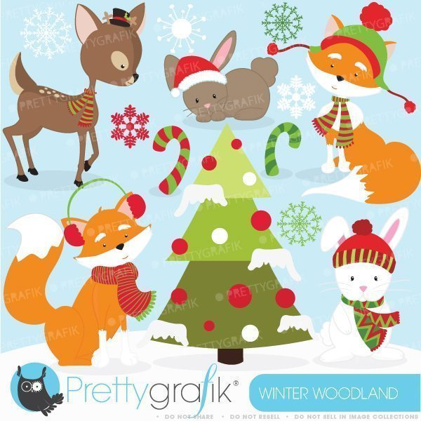 Winter animal clipart banner black and white stock Winter animals clipart banner black and white stock