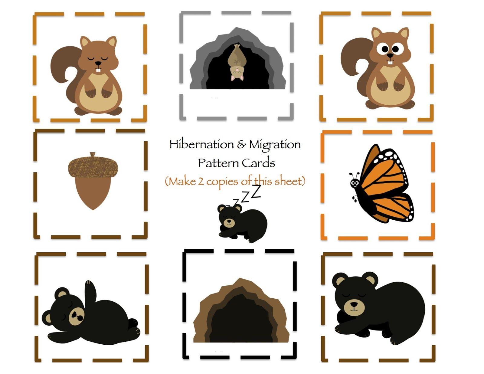 Winter animal migration clipart png transparent download Hibernation & Migration Printable | Preschool | Preschool ... png transparent download