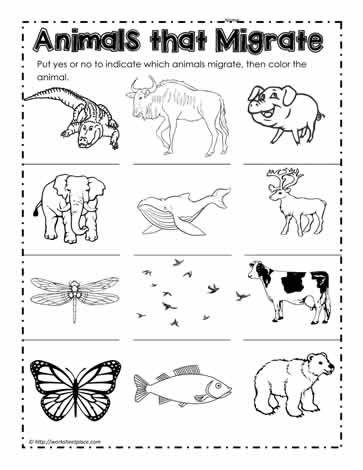 Winter animal migration clipart clip free Animals that Migrate Worksheets clip free