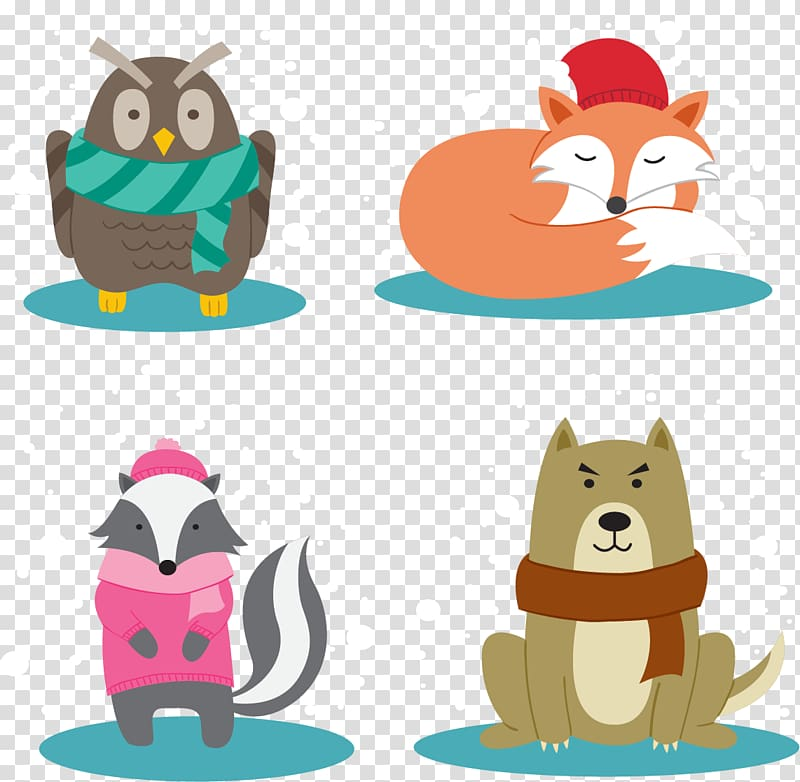 Small animal clipart clip library Animal , Small animals warm winter transparent background ... clip library