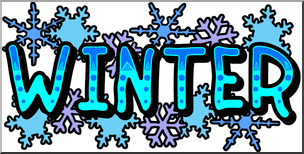 Winter banner clipart image free Clip Art: Winter Banner Color I abcteach.com | abcteach image free