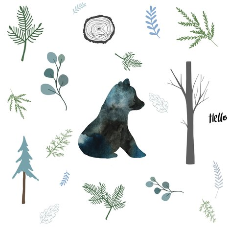Winter bear clipart honeycomb clip freeuse download 8\