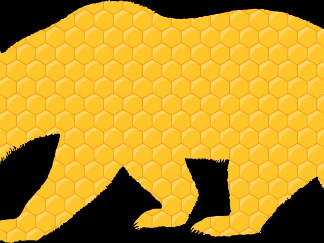 Winter bear clipart honeycomb transparent library Honeycomb Clipart Transparent - California Grizzly Bear ... transparent library
