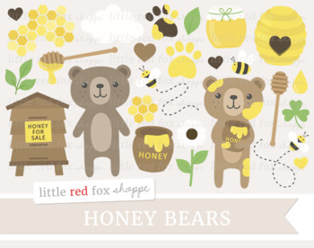 Winter bear clipart honeycomb clipart free Clipart Bears Worksheets & Teaching Resources | Teachers Pay ... clipart free