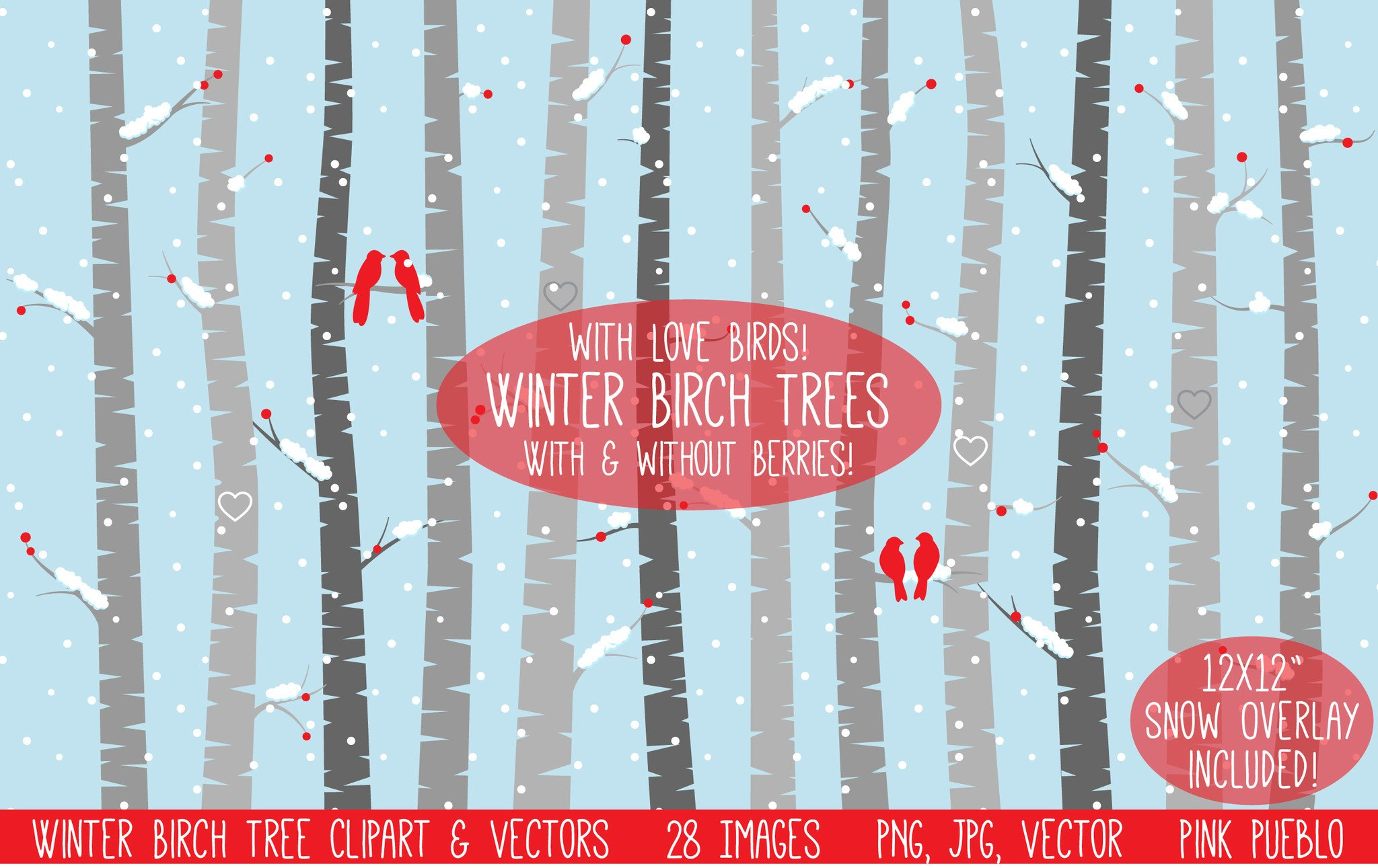 Winter birch tree clipart image royalty free library Winter Birch Tree Clipart & Vectors image royalty free library