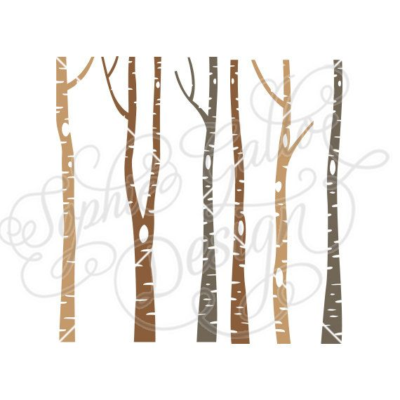 Winter birch tree clipart vector Winter Birch Tree Forest SVG PNG DXF digital download files ... vector