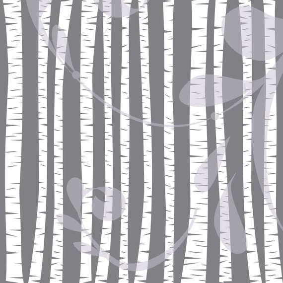 Winter birch tree clipart clipart royalty free Birch and Aspen Trees Clipart | White Forest Silhouette ... clipart royalty free