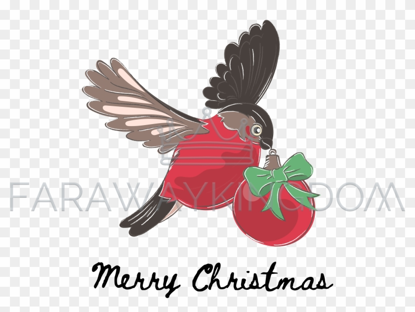 Winter birds party clipart clip art transparent stock Bullfinch Christmas Cartoon Winter Bird Vector Illustration ... clip art transparent stock