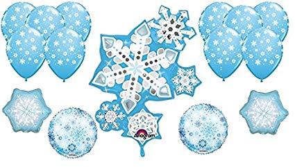 Winter birthday decorations clipart jpg transparent Amazon.com: 15 Snowflake Balloons - Snowflake Decorations ... jpg transparent