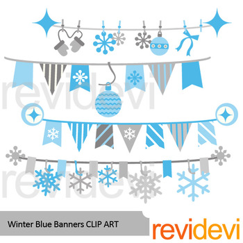 Winter blue banner clipart clip art transparent Winter clipart: Winter blue banners clip art clip art transparent