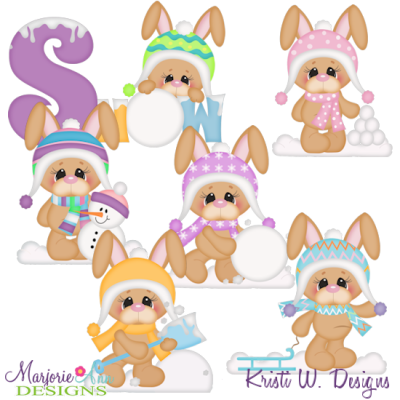Winter bunny clipart image download Snow Bunny Winter Fun SVG Cutting Files Includes Clipart ... image download