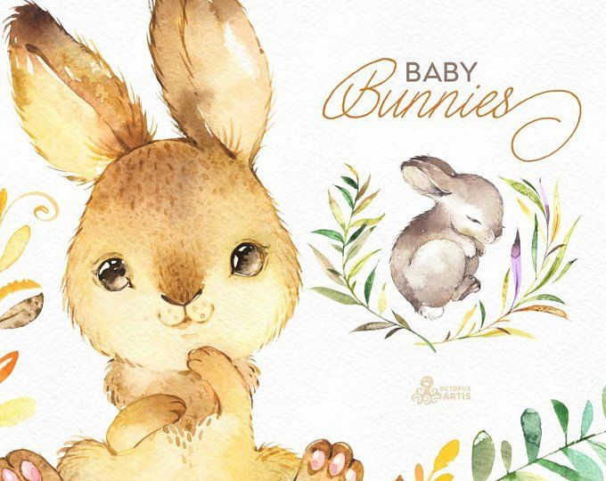 Winter bunny clipart clip art royalty free library Winter Bunnies. Watercolor holiday clipart, rabbit, red ... clip art royalty free library