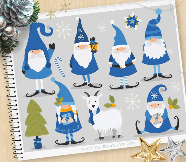 Winter candyland clipart freeuse library Winter Gnomes Clipart freeuse library