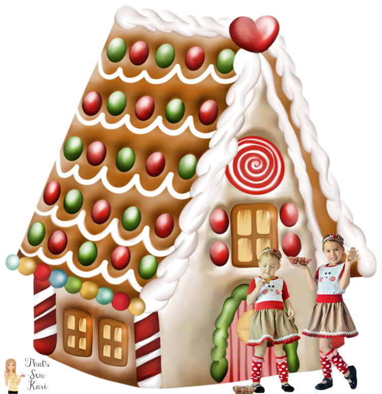 Winter celebration gingerbread house invitation clipart png transparent library Celebrating Christmas: Party On — Pattern Revolution png transparent library