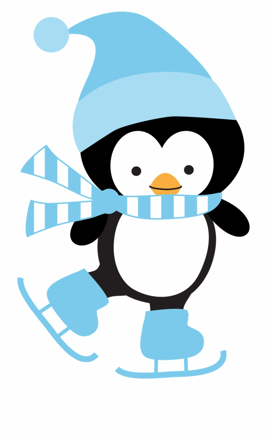 Penguin sweater clipart clipart library download Winter Clipart - Penguin Ice Skating Clipart Free PNG Images ... clipart library download