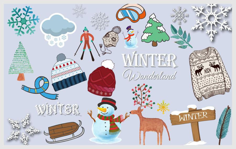 Wintrg clipart banner free library Winter Clipart (100+ pieces) – Discovery Center Store banner free library