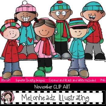 Melonheadz winter black and white clipart picture royalty free stock Melonheadz Winter Clipart Worksheets & Teaching Resources | TpT picture royalty free stock