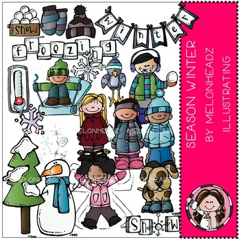 Winter clipart melonheadz png black and white library Melonheadz Winter Clipart Worksheets & Teaching Resources | TpT png black and white library