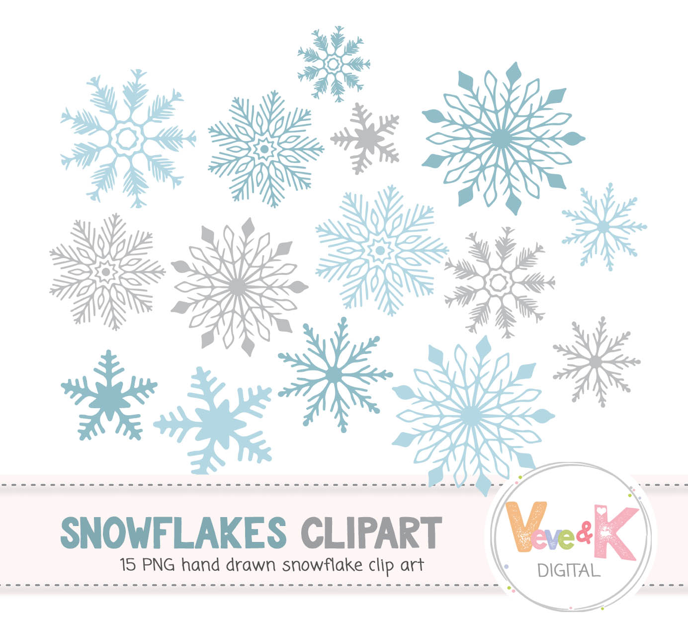 Winter clipart snow flakes graphic black and white stock Snowflakes Clipart, Snowflakes Digital Art, Hand drawn Snowflakes Christmas  Card Overlay, Winter Clipart, Hand drawn Clipart graphic black and white stock