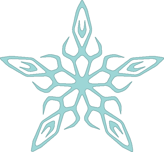 Winter clipart snow flakes banner Winter Clipart banner