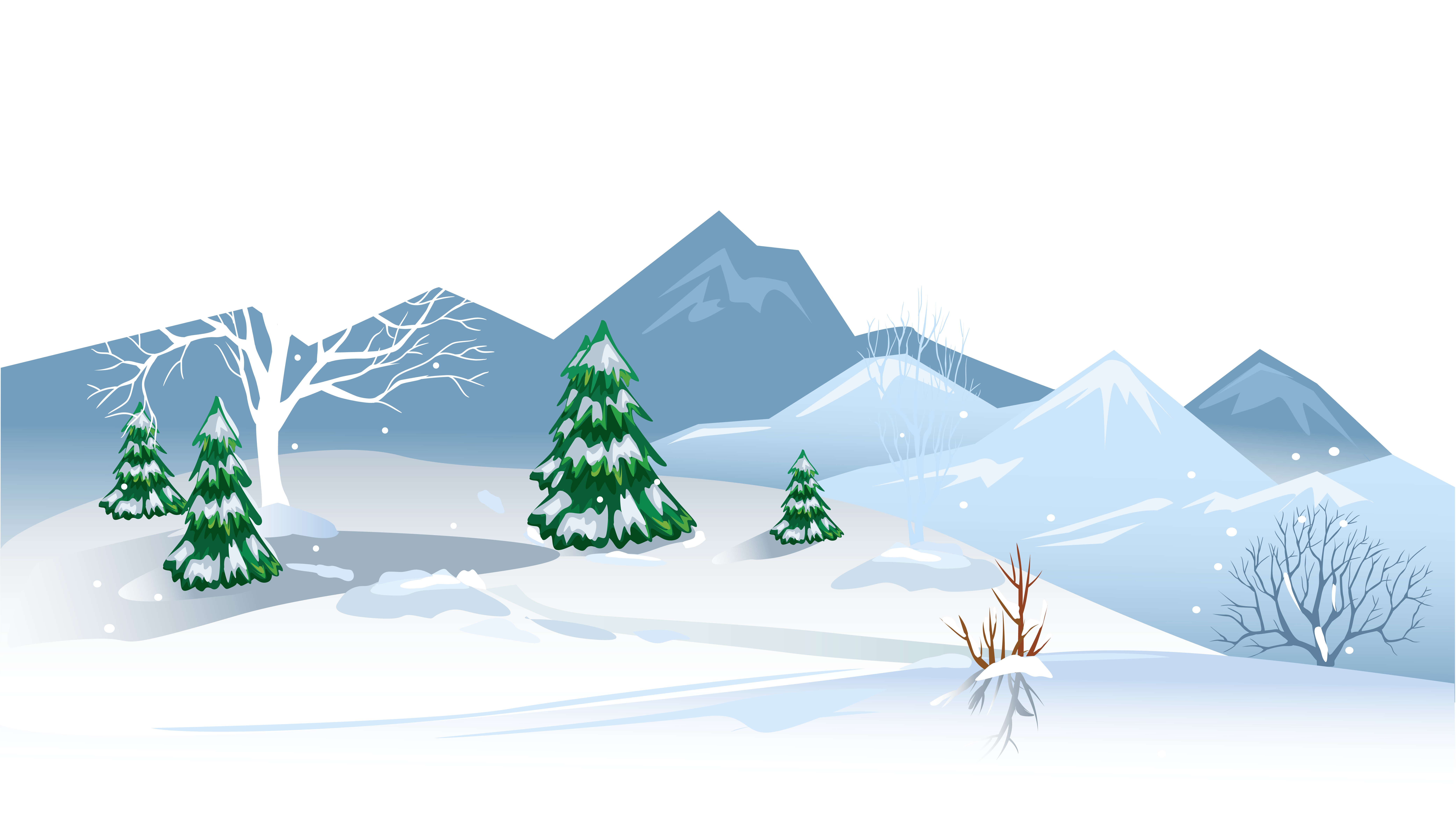 Winter clipart transparent background stock Free Cute Winter Clipart - Winter Scene Transparent ... stock