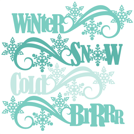 Word cute clipart png freeuse stock Winter Word Titles SVG scrapbook cut file cute clipart files ... png freeuse stock